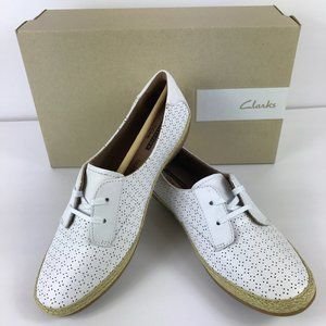 Clarks 'Danelly Millie' Womens White Leather Shoes
